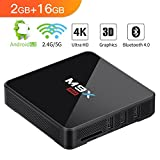 Bqeel M9X MAX 4K 2GB/16GB Tv Box Dual WIFI (2.4GHz/5GHz) Bluetooth 4.0 Android Tv Box S905X Quad-core Android 6.0 Smart Tv Box