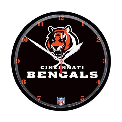 Cincinnati Bengals Official NFL Clock by Wincraft (Wincraft Nfl Clock Round)