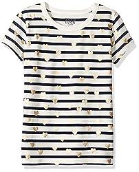 Girls Short Sleeve Stripe T-Shirt