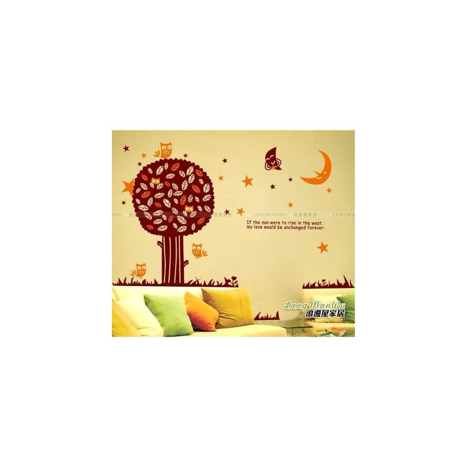 Reusable/removable Decoration Wall Sticker Decal  Night