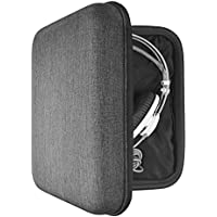 Headphone Full Size Large Hard Carrying Case / Travel Bag with Space for Cable, AMP, Parts and Accessories (Fit AKG K701, K702, Q701, Sennheiser HD800, HD600, HD650, Beyerdynamic DT990, T1, DT880pro, ATH W3000ANV, W5000, Beats Studio, Hifiman HE-560 and More)