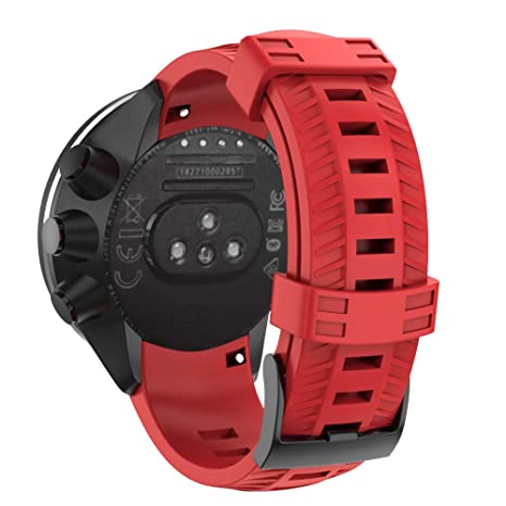 BarRan SUUNTO 9/Suunto 9 Baro Bracelet, 24MM Bracelet de Montre de Rechange en Silicone Noir pour SUUNTO 9/Spartan Sport Wrist HR Baro: Amazon.fr: High-tech