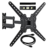 Happyjoy Tilt & Swivel TV Wall Mount Bracket with Full Motion Cantilever Up to Vesa 600x400 for Most 26-65' Samsung LG Panasonic Sony 3D 4K 1080p TV Screens