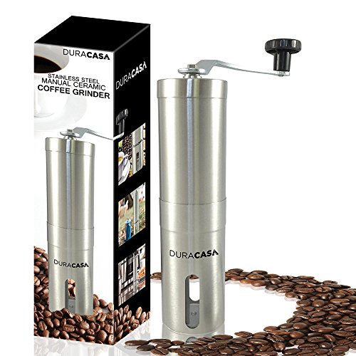 Manual Coffee Grinder - High Quality Stainless Steel Burr Coffee Grinder - Coffee Maker With Grinder For Espresso - Roasted Coffee Bean Grinder - Burr Grinder Coffee Mill - Best Manual Coffee Grinder Period!