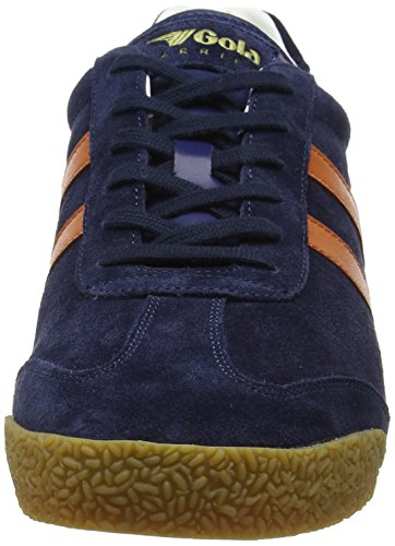 Gola Harrier Suede, Zapatillas para Hombre Azul (Navy/orange/off White Hu)