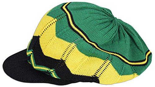 Rasta Hat Jamaica Marley Reggae Cap Rastafari Dreadlocks Tam Roots Cotton Africa (#46) -