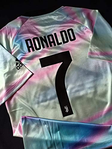 wholesale dealer e329b 02ae8 Amazon.com : Retro Ronaldo#7 Juventus EA Sport Soccer Jersey ...