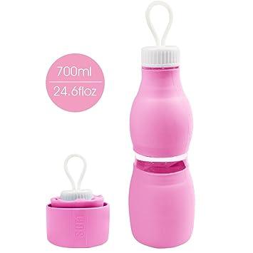 Botella De Agua Daite De Silicona Plegable Libre De BPA, 700ml, Sin Olores Plásticos