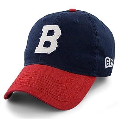 "Block""B"" Doubleheadah Strapback Hat - Navy/Red"