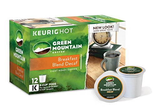 Sweet Coffee Keurig - Green Mountain Coffee Keurig Single-Serve K-Cup Pods, Breakfast Blend Decaf Light Roast Coffee, 72 Count (6 Boxes of 12 Pods)