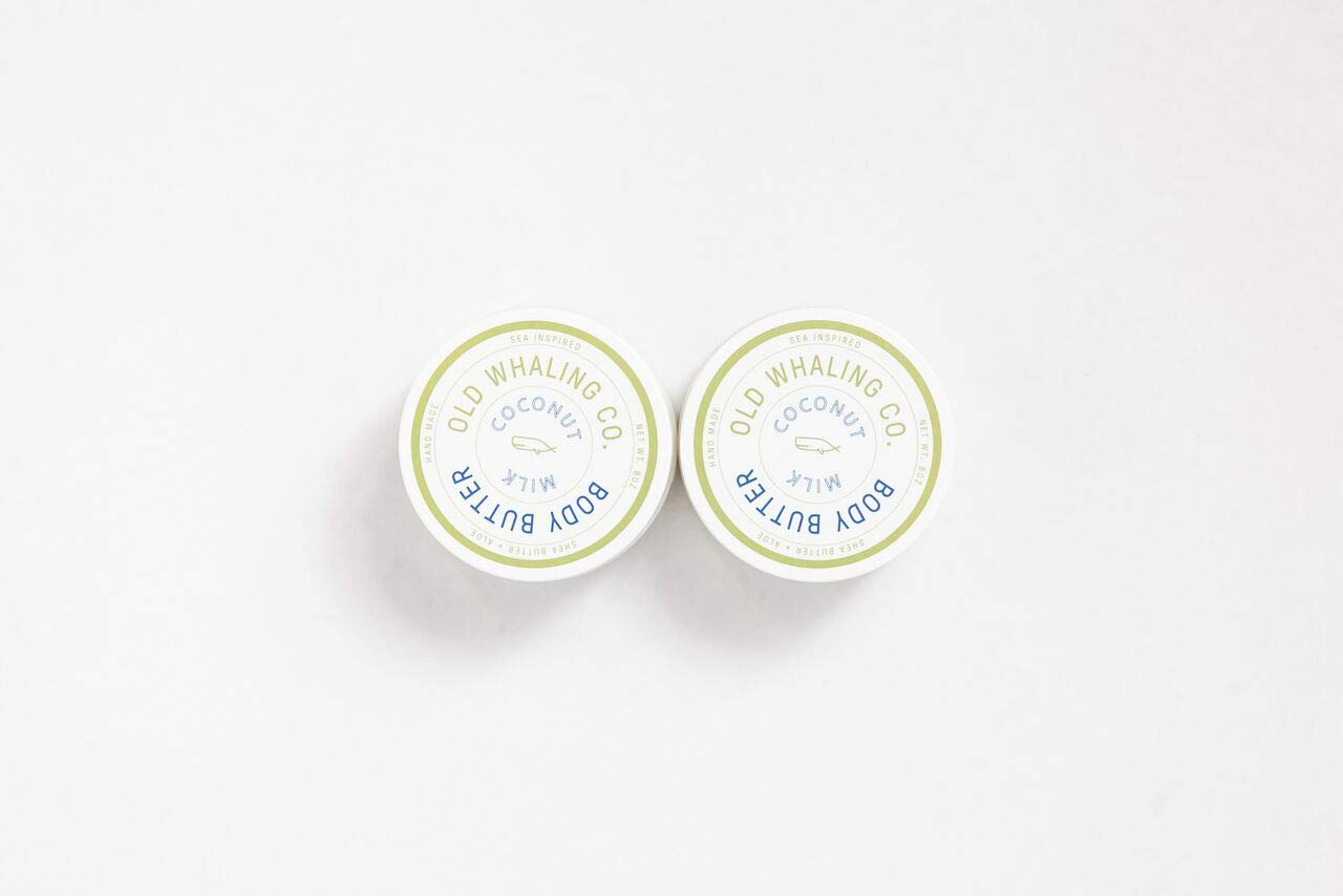 TWO Coconut Milk Body Butters || handmade/natural / shea butter aloe lotion/natural skincare/great gift/Father's Day/tropical