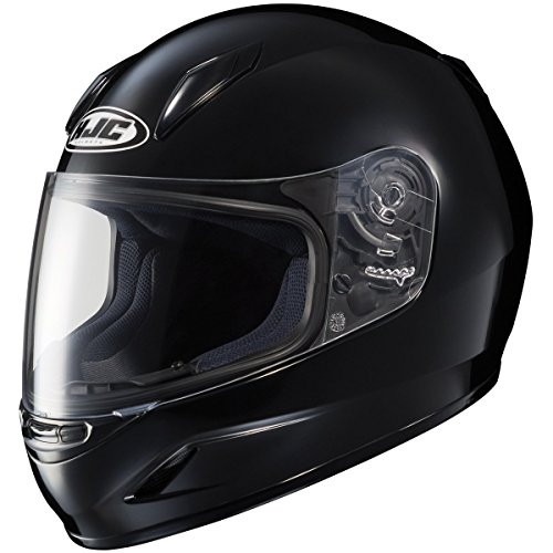 HJC Solid Youth Boys CL-Y Sportsbike Motorcycle Helmet - Black / Medium