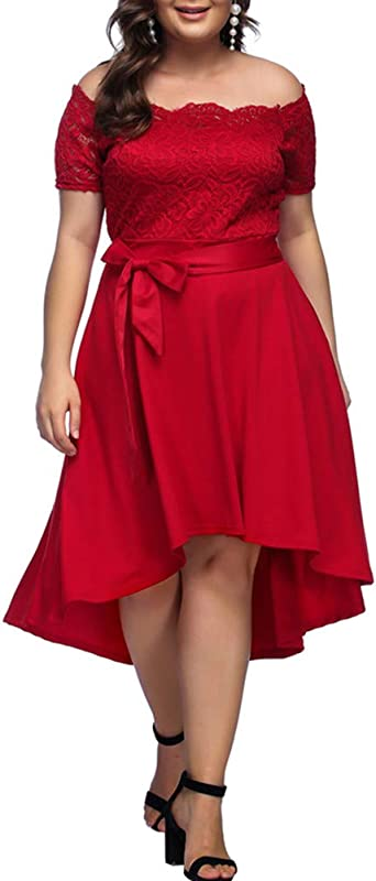 TALLA ES(58-60)4XL. Lover-Beauty Mujer Vestido Corto Elegante Sexy Cuello V Raya Talla Grande Top Puro con Manga Dama de Honor para Boda Noche Fiesta y Boda Navidad S-4XL Rojo 2 ES(58-60)4XL