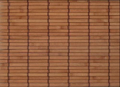 Bambus Raffrollo mit 7,5mm Stäben Bambusrollo - Breite 60 bis 120 cm - Länge 160 cm - Cherry Terrakotta Seitenzugrollo Sichtschutz Fenster Tür Rollo Vorhang Holzrollo Faltrollo (100 x 160 cm)