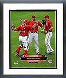 "Max Scherzer Washington Nationals 2015 MLB No Hitter Photo (Size: 12.5"" x 15.5"") Framed"
