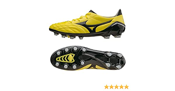 Mizuno Botas de fútbol de Piel para hombre amarillo amarillo