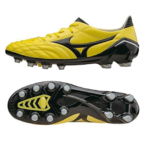 Mizuno - Botas de fútbol de Piel para hombre amarillo amarillo
