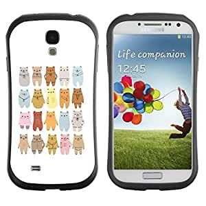 "Pulsar iFace Series Tpu silicona Carcasa Funda Case para SAMSUNG Galaxy S4 IV / i9500 / i9515 / i9505G / SGH-i337 , Oso Arte Dibujo Lineup Cartoon"""