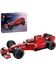 LICI Technik F1 racewagen bouwstenen, 1138 delen, racewagen sportwagen bouwstenen modelbouwset, klembouwstenen, constructiespeelgoed, compatibel met Lego Technic