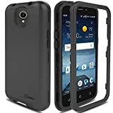 zte prelude silicone case - ZTE Maven 3 Case, ZTE Overture 3 Case, ZTE Prestige 2/Prelude Plus 4G LTE Case AMENQ Hybrid 3 IN 1 Heavy Duty Shockproof Protection Rugged Rubber Silicone Armor Cover for ZTE Android Phone (Black)