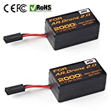 2 Pcs 2000mAh 11.1V High Capacity Upgrade Rechargeable Battery Pack Replacement Extended flight times for Parrot AR.Drone 2.0 Quadcopter Parts