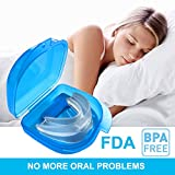 Snore Stopper Mouthpiece, Snoring Solution Anti Snoring Devices Sleep Aid Custom Fit Night Mouth Guard (Clear)