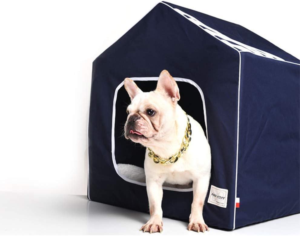 ZPEM Cama Port/átil para Mascotas Nest Nido Sof/á Cueva Gatos Dise/ñado para Perros Peque/ños,Black,S