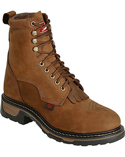 """Tony Lama Men's Waterproof Cheyenne 8"""" Lace-Up Work Boot Ste"""