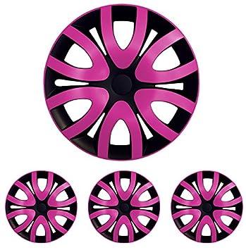 Tapacubos – Tapacubos Tapacubos Mica bicolor rosa 15 pulgadas 15 R15 universal apto para casi