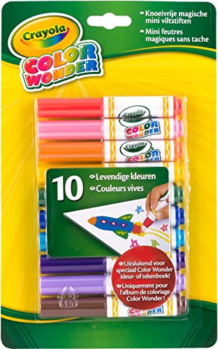 Crayola Color Wonder Markers, Mess Free Coloring, 10 Count, Gift for Kids, Age 3, 4, 5, 6 -