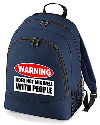 Funny Not Navy With Bag Backpack Grump Well Rucksack People Mix Unisex Does Warning nBwxRqHSR