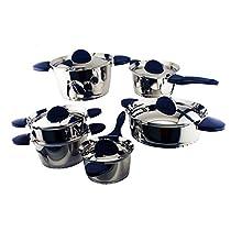 BergHOFF 1112527b 11-Piece Stacca Cookware Set, Blue