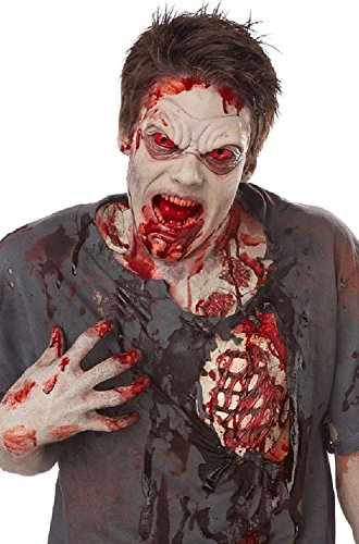 Walking Dead Costume Makeup Zombie (Halloween Zombie Accessories ~ Self Adhesive Latex Bloody Ribs and Bloody Wounds ~ Tube of Blood ~Walking)