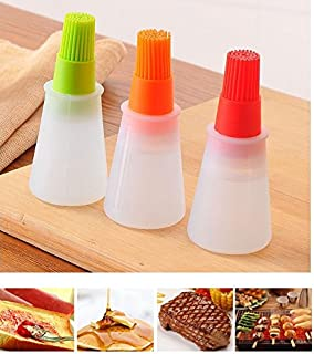 Baiouda Kitchen Oil Brush Barbacoa Storage Bottles Silicone Oil Bottle with Brush for Barbecue Cooking Baking