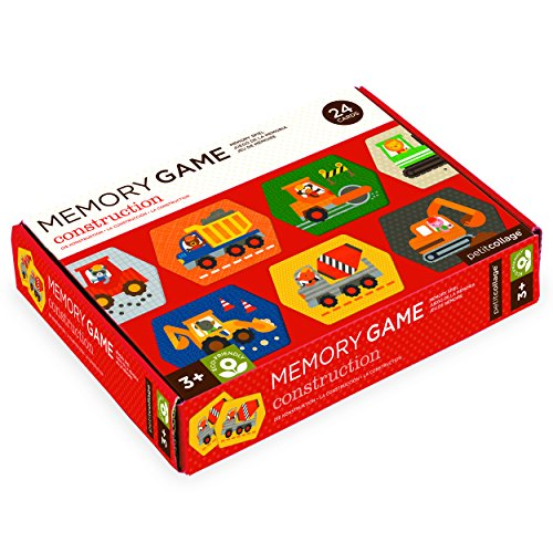 Petit Collage Construction Memory Game (24 Chunky Cards to Match)