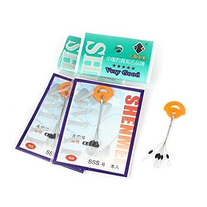 eDealMax Tapón de goma Pesca Bobber Flotante 3 piezas Naranja