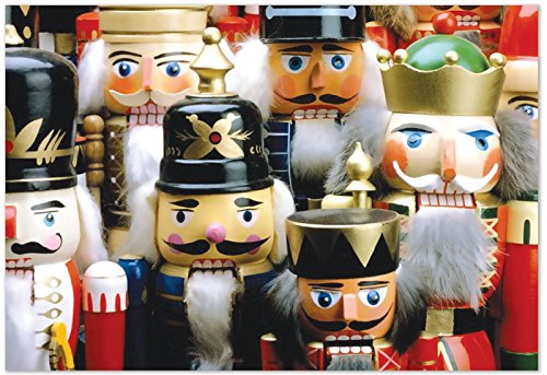 B3269HXSG Box Set of 12 Merry Crackers Christmas Notecard Featuring Photos of Holiday Nutcrackers; with Envelopes
