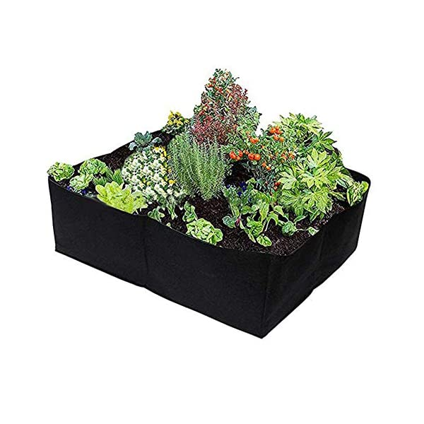 Sytaun Panno di Feltro 4 Griglie Orto da Giardino Contenitore per Piante Borsa da Coltivazione Vaso per Fioriera… 3 spesavip