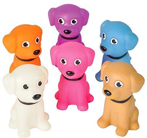 Mini Rubber Puppies bright colors