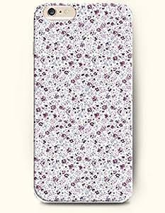 iPhone 6 Plus Case 5.5 Inches Simple Elegant Flowers - Hard Back Plastic Case OOFIT Authentic