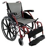 Karman Healthcare Ergonomic Wheelchair S-115 Mag Wheels, Rose Red, 20 Inch x 17 Inch, 27 Pound