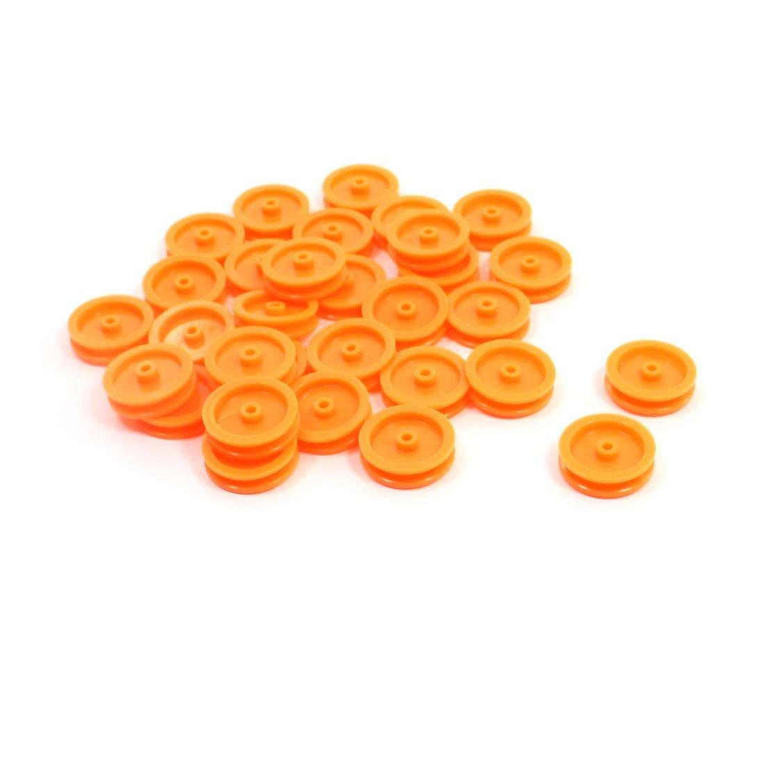 30 stück 2 mm loch orange kunststoff riemenscheibe: amazon.de ...