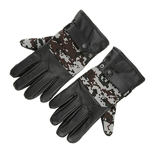 PU Gloves Mittens Winter Warm Outdoor Skiing Gloves Anti-slip Thick Warmer Man Bike Bicycle Touch Screen Gloves - - Big For Heads Best Oakleys