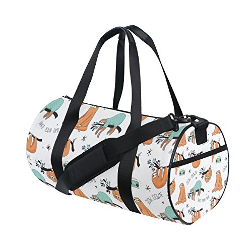 ALAZA Cute Cartoon Baby Sloth Sports Gym Duffel Bag Travel Luggage Handbag for Men Women