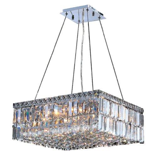Worldwide Lighting W83512C20 Cascade 12 Light Chrome Finish with Clear Crystal Chandelier