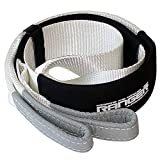 """Ranger 3"""" x 6' Tree Saver Strap for Tow Winch Recovery Heavy Duty with Reinforced Loops + Protective Sleeves 30,000 lb Breaking Capacity 13.6 Tons"""