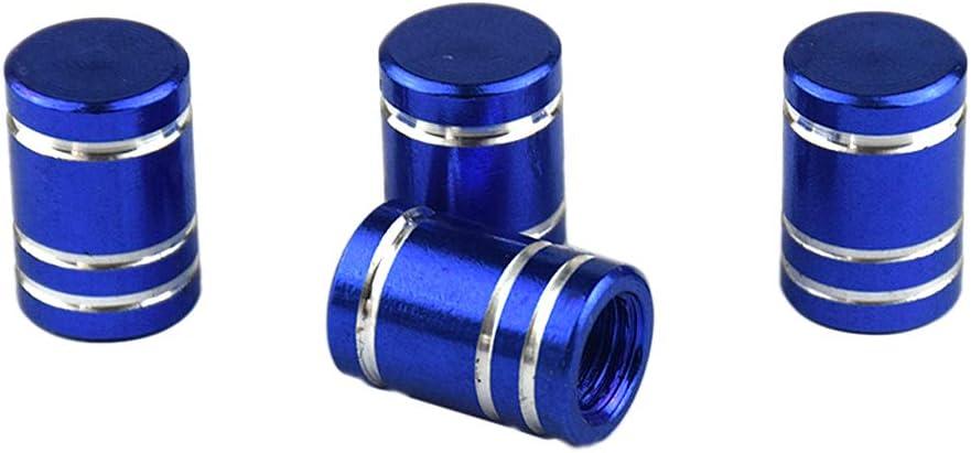 Morado Shiwaki 8X Aluminio Tapa V/álvula de Neum/ático Tapones Antipolvo de Rueda Azul
