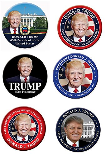 President Donald Trump Inauguration Button Set - Inauguration Pinback Button