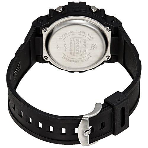 51IY lLos3L. SS500  - Sonata Digital Grey Dial Men's Watch -NK7982PP04