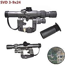 XWXS Dragunov 3-9x24 SVD First Focal Plane Sniper Rifle Scope FFP Illuminated Rangefinding Reticle Scope
